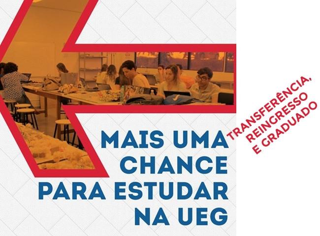 UEG abre inscrições para transferência, reingresso e graduados