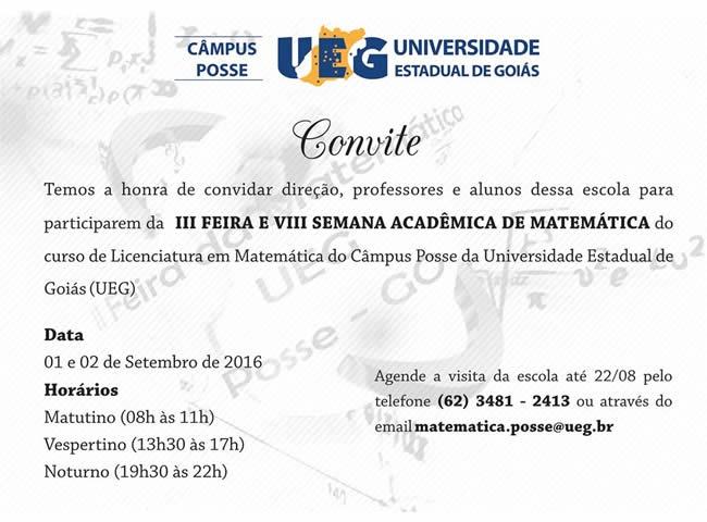 III Feira e VIII Semana Acadêmica de Matemática